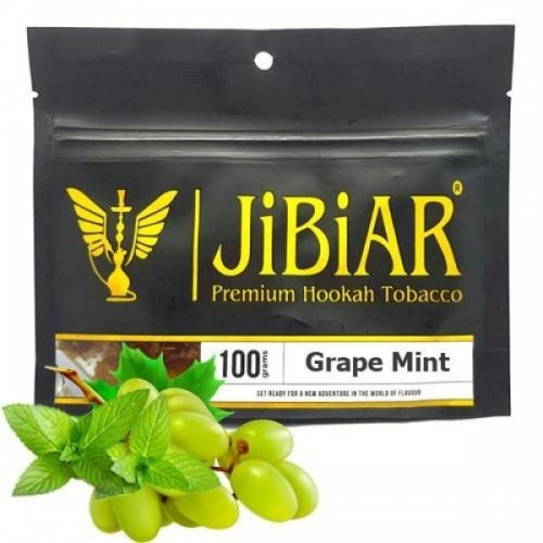 Табак Jibiar Grape Mint (Виноград Мята)100 гр
