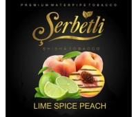 Табак Serbetli Lime Spiced Peach (Лайм и Персик со специями) 50 грамм