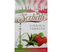 Табак для кальяна Serbetli Strawberry Aloe Vera 50 грамм