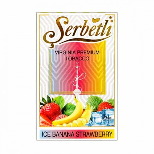 Табак для кальяна Serbetli Ice Banana Strawberry 50 грамм